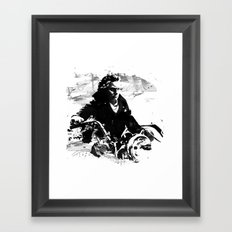 Beethoven Motorcycle Framed Art Print