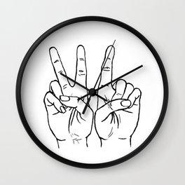 VI hands Wall Clock
