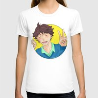 haikyuu T-shirts featuring Oikawa Tooru - Haikyuu!! - circle peace sign by anywayimnikki