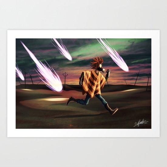 Air Raid in the Battlefield Art Print