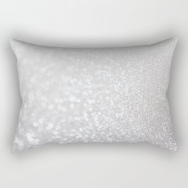Silver ice - glitter effect- Luxury design Rectangular Pillow