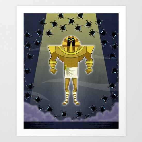 Osiris versus Set Art Print
