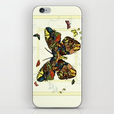 Colorful Butterfly Collage iPhone & iPod Skin