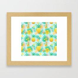 PINEAPPLE--Pattern Framed Art Print