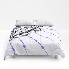 Mandala Pattern - Purple and Black Comforters