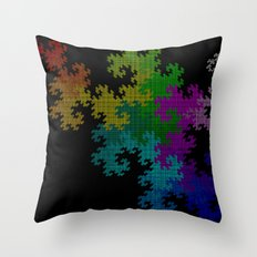 dragon squares Throw Pillow