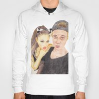 ariana grande Hoodies featuring Ariana and Justin by Share_Shop