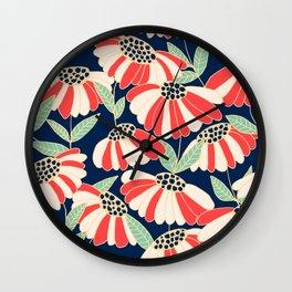 Botany pattern Wall Clock