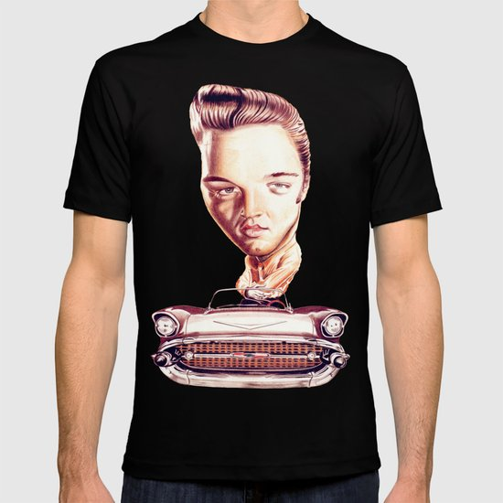 Elvis presley t shirt by diego abelenda society6 for Elvis t shirts wholesale