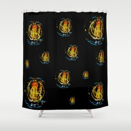 The Electric Current:  Filament Lights Shower Curtain