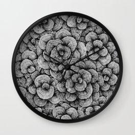 Flower-op-art-line Wall Clock