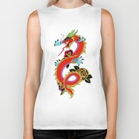 dragon ball Biker Tanks featuring dragon  by mark ashkenazi