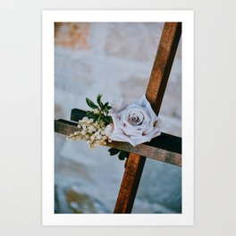 Rose on the Cross (Color) Art Print
