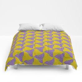 Trinity Pattern Yellow Purple Comforters