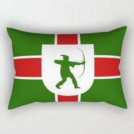 nottinghamshire region flag united kingdom great britain province Rectangular Pillow
