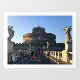 The other big circle in Rome Art Print