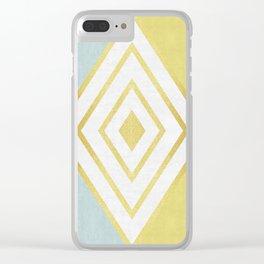 Fashion diamond I Clear iPhone Case
