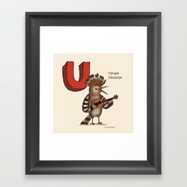 Animals & Instruments ABCs – U Framed Art Print