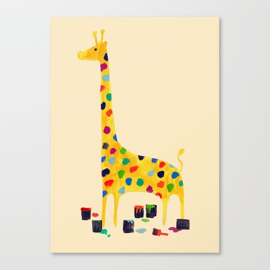 Paint by number giraffe Canvas Print