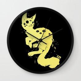 Cute Kawaii Spider Cat, Gothic Creepy Cute Art Wall Clock