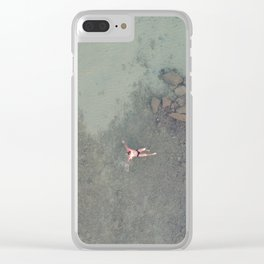 Aerial Swim Clear iPhone Case