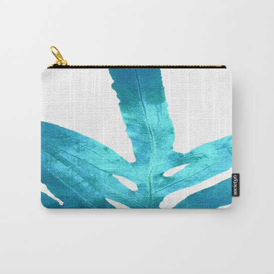 Ocean Blue Fern Carry-All Pouch