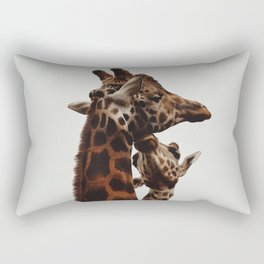 giraffe love Rectangular Pillow