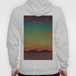 'Marine Sunset' ocean landscape painting by Diego Rivera Hoody