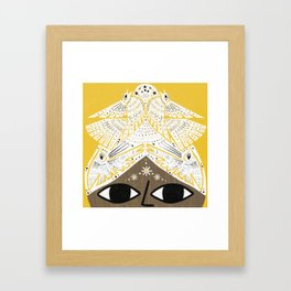 BIRD HEAD Framed Art Print