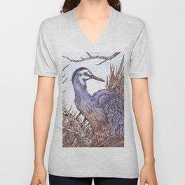 White Faced Heron Unisex V-Neck