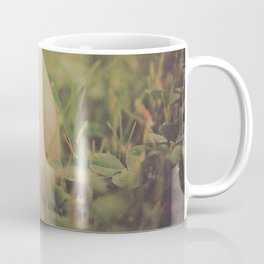 Used Baseball in Grassy Field wth Aged Effect Coffee Mug