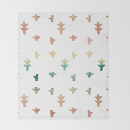 Colorful Boho tree pattern Throw Blanket
