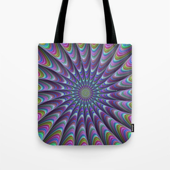 Twisted fractal sun Tote Bag