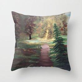 Warm Autumn day Throw Pillow