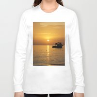 jamaica Long Sleeve T-shirts featuring Sunset in Jamaica  by Jason Carnegie