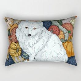 Arctic Fox. October. Rectangular Pillow