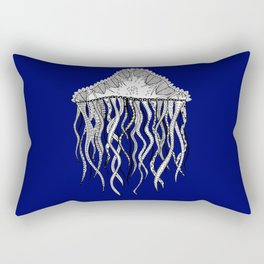 Blue Jellyfish Rectangular Pillow