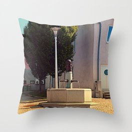 The neglected fountain Throw Pillow