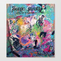 sonic youth Canvas Prints featuring Sonic Youth by Samantha Sunshine