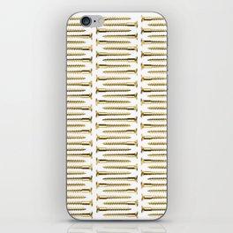 Golden Screws Pattern Poster iPhone Skin