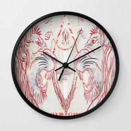 Royal Confrontation Wall Clock