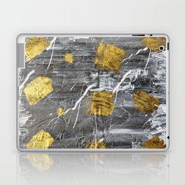 Gold Leaf on Marble Laptop & iPad Skin