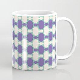 Retro Inspired Eggplant Color Pattern Coffee Mug