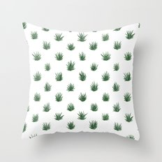 Haworthia Succulents Throw Pillow