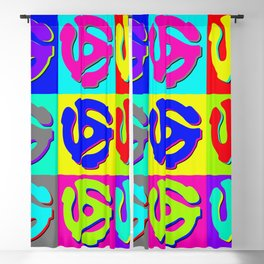 Pop Art Retro Vinyl Collector Blackout Curtain