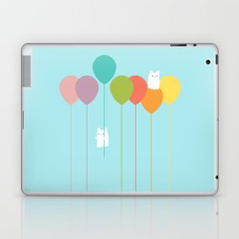 Fluffy bunnies and the rainbow balloons Laptop & iPad Skin