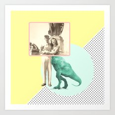 Who would like to date a t-rex Art Print