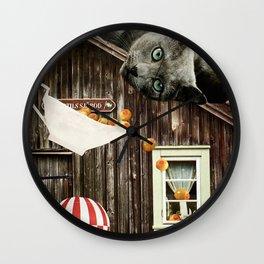 Swedish Cat Wall Clock