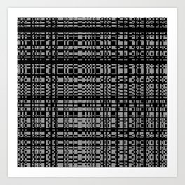 block chain Art Print