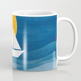 A sailboat in the sea Coffee Mug